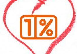 Podziękowanie za 1%
