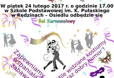 Zaproszenie na Bal Karnawałowy 2017