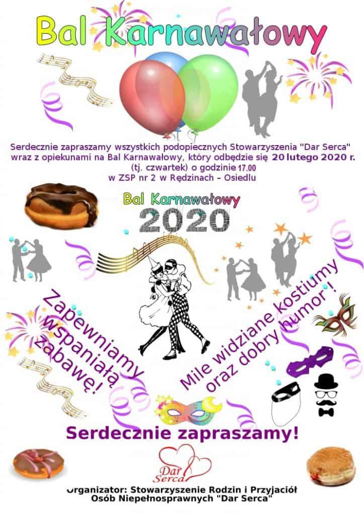 Zapraszamy na bal karnawałowy 2020